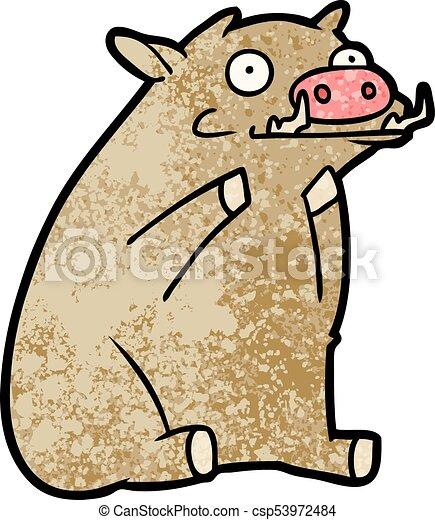 cartoon warthog - csp53972484
