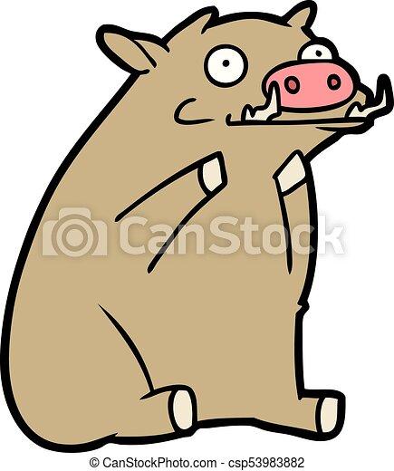 cartoon warthog - csp53983882
