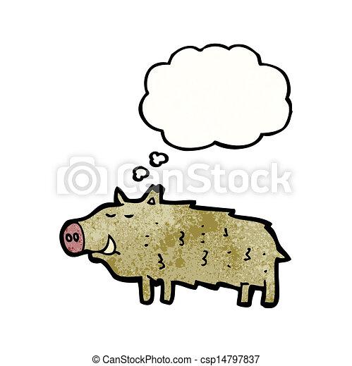 cartoon warthog - csp14797837