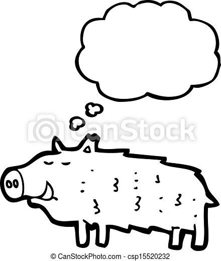 cartoon warthog - csp15520232