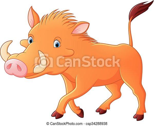 Cartoon warthog - csp34288938