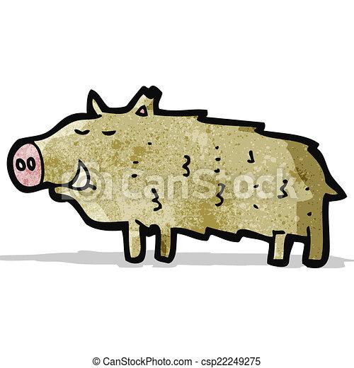 cartoon warthog - csp22249275