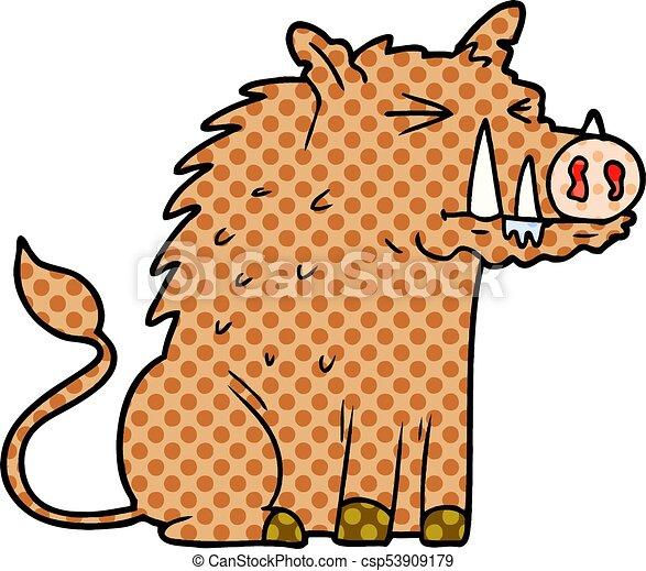 cartoon warthog - csp53909179