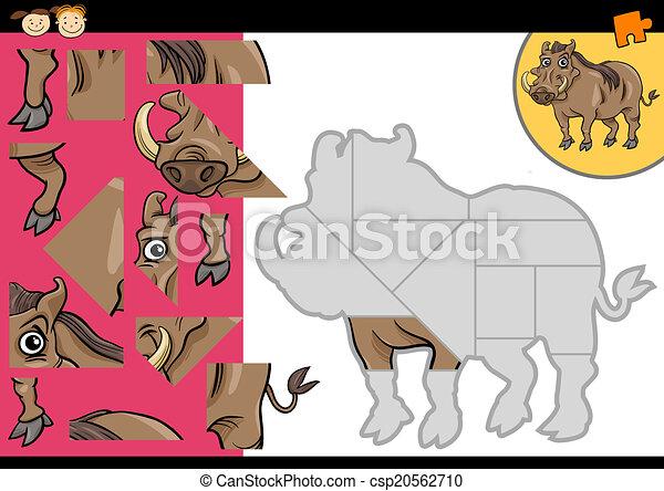 cartoon warthog jigsaw puzzle game - csp20562710