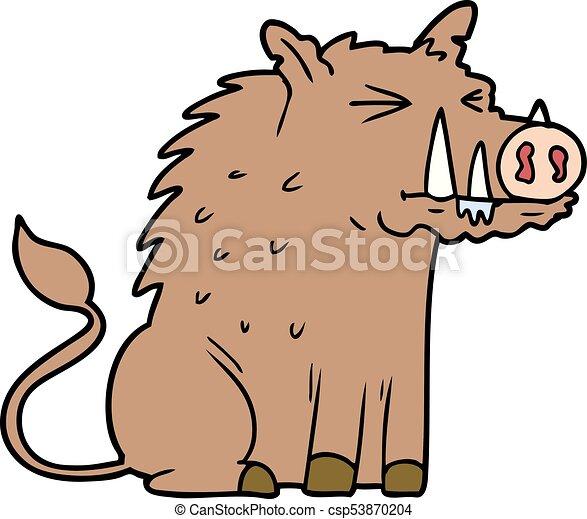 cartoon warthog - csp53870204