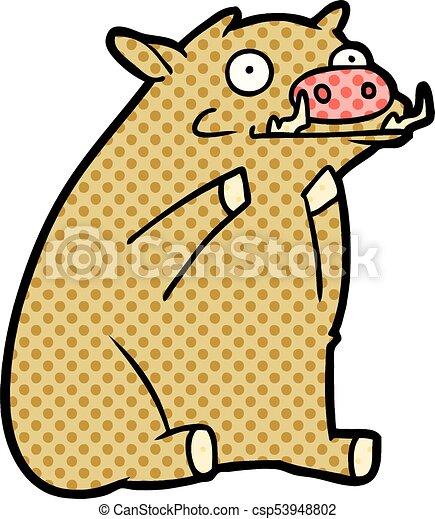 cartoon warthog - csp53948802