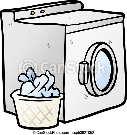 cartoon washing machine and laundry clipart vector search rh canstockphoto com washing machine clip art free washing machine clip art free