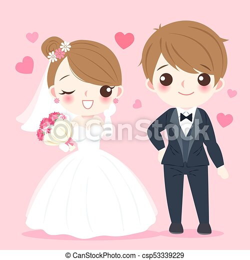 Cartoon Wedding People