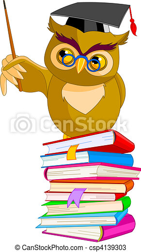 Cartoon Wise Owl - csp4139303