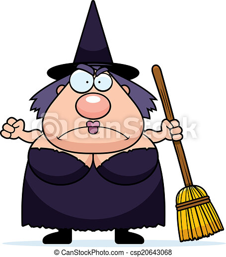 Cartoon Witch Angry - csp20643068