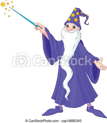 Cartoon wizard - csp16685343
