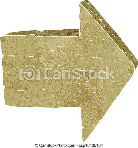 cartoon wooden arrow sign - csp18435164