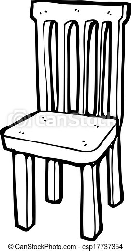 Cartoon Wooden Chair Vector