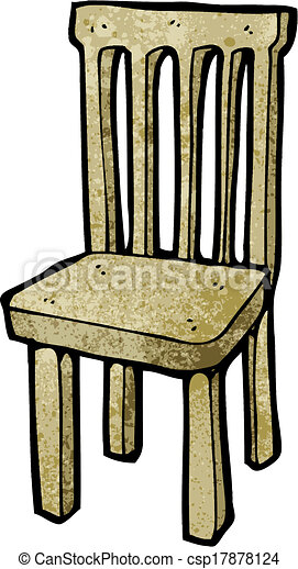 Cartoon Wooden Chair Vector Illustration