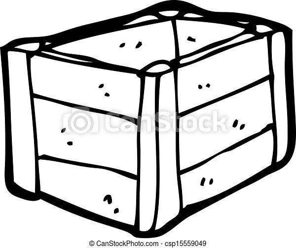 cartoon wooden crate - csp15559049