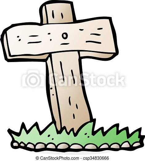 cartoon wooden cross grave clip art vector search drawings and rh canstockphoto com grave clipart black and white grave clipart images