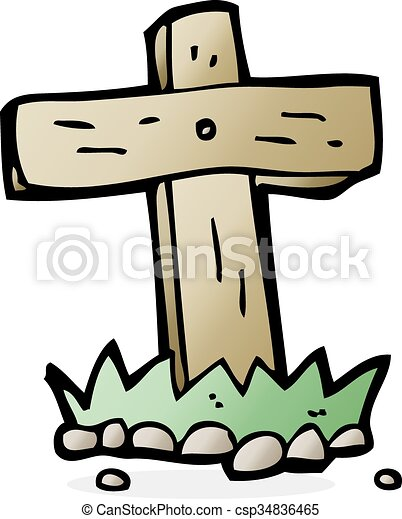 cartoon wooden cross grave clip art vector search drawings and rh canstockphoto co uk grave clipart black and white grave clipart gif