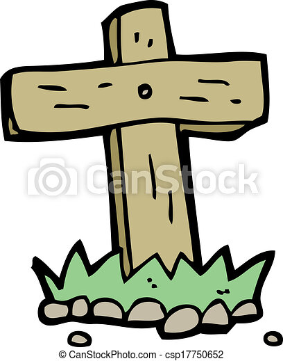 cartoon wooden cross grave clipart vector search illustration rh canstockphoto com grave clipart black and white grave clipart images