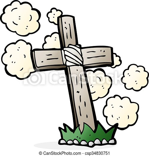 cartoon wooden cross grave clipart vector search illustration rh canstockphoto ie grave clipart black and white grave clip art free