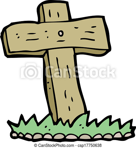 cartoon wooden cross grave vectors search clip art illustration rh canstockphoto com grave clipart images grace clipart
