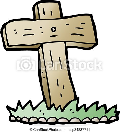 cartoon wooden cross grave vector clip art search illustration rh canstockphoto com grave clip art free grave clipart gif