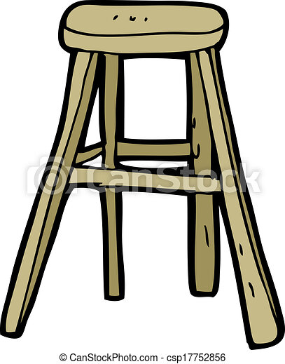 Cartoon Wooden Stool Clipart Vector Search Illustration