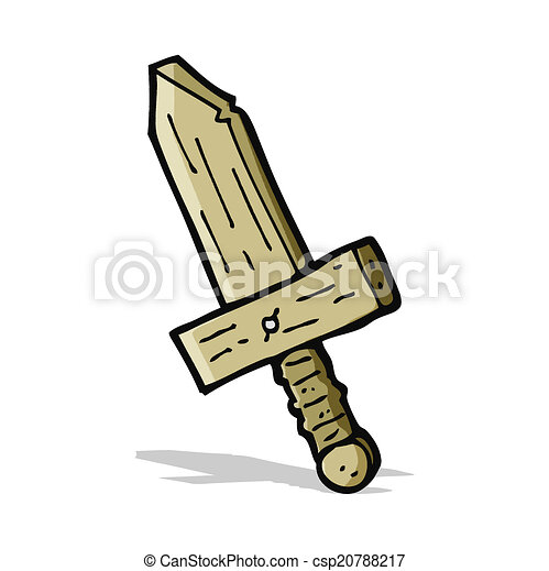 cartoon wooden sword - csp20788217