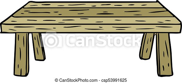 cartoon wooden table - csp53991625