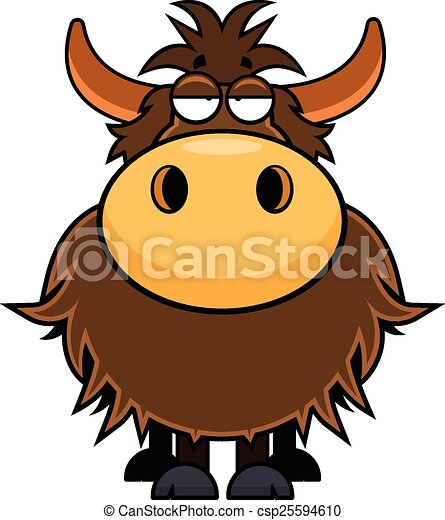 cartoon yak tired cartoon illustration of a yak with a vector rh canstockphoto com yak clipart free yak clipart free
