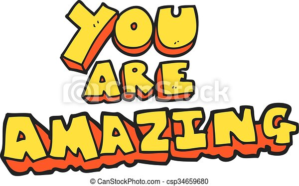 freehand drawn cartoon you are amazing text vector search clip art rh canstockphoto com text clip art free text clip art creator