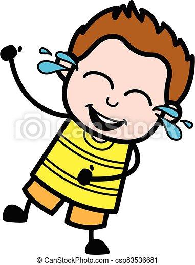 Cartoon Young  Laughing - csp83536681