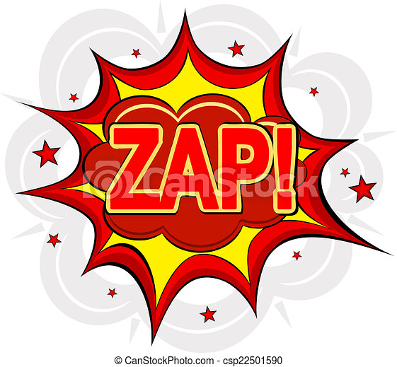 Cartoon ZAP! on a white background. Vector illustration. - csp22501590