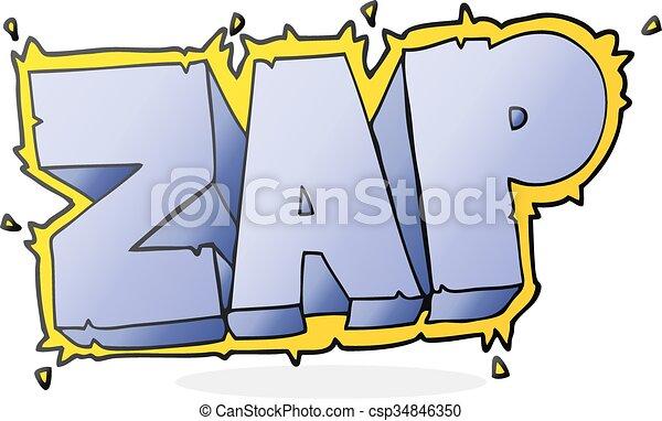 cartoon zap symbol - csp34846350