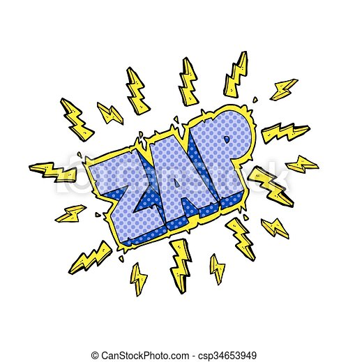 cartoon zap symbol - csp34653949