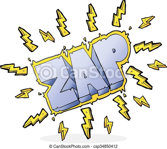 cartoon zap symbol - csp34850412