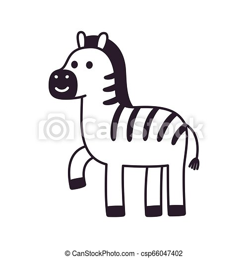 Cartoon Zebra drawing - csp66047402