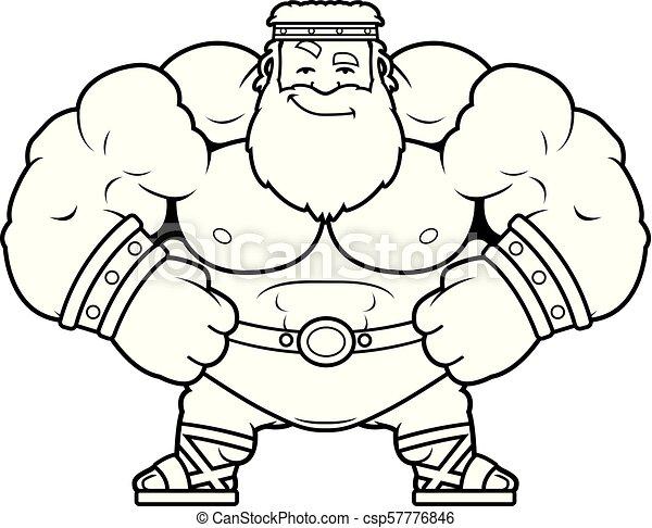 Cartoon Zeus Confident A Cartoon Illustration Of Zeus Looking