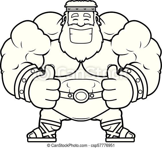 Cartoon Zeus Thumbs Up A Cartoon Illustration Of Zeus With Thumbs Up