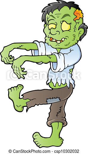 Cartoon zombie theme image 1 - csp10302032