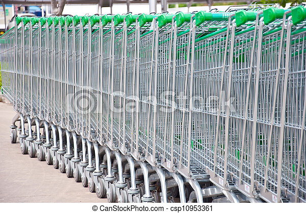 Carts for supermarket - csp10953361