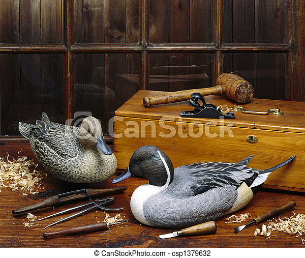 Carved Ducks - csp1379632