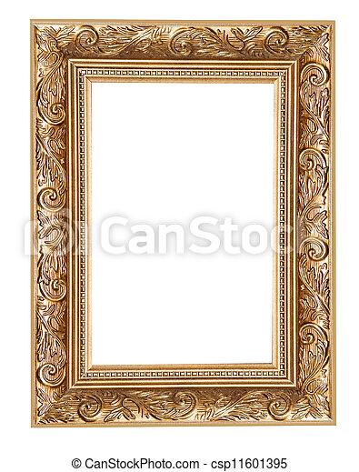 carved frame isolated  - csp11601395