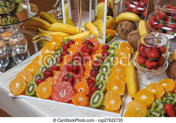 Carved fruits arrangement - csp27622730