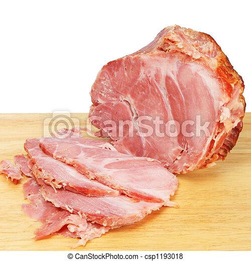 Carved ham - csp1193018