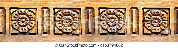 Carved Roses - csp3794062