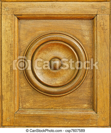Carved Wood Background - csp7607589