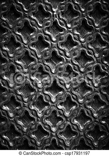 Carved wood texture - csp17931197