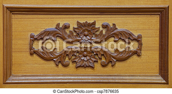 Carved wooden - csp7876635
