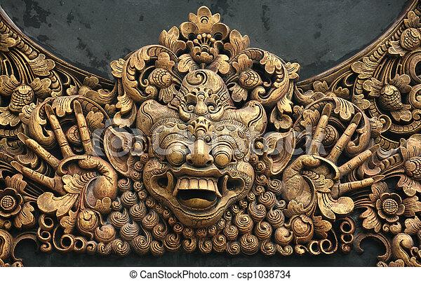 Carving at Pura - csp1038734