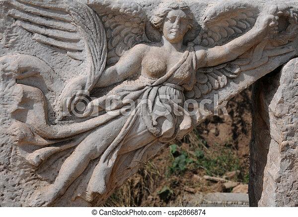 Carving of Nike - csp2866874